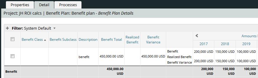 Sample Benefit Plan