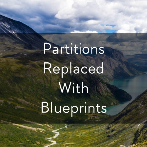 Partitions Replaced with Blueprints