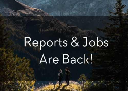 Reports & Jobs are back!
