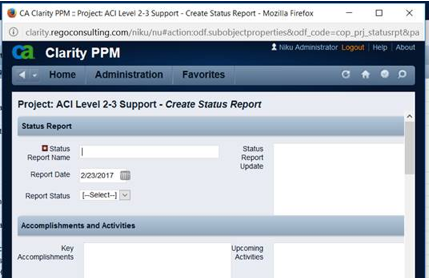 Status Report Screen on Project Tab.png